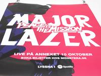 Major Lazer, Release & concert posters