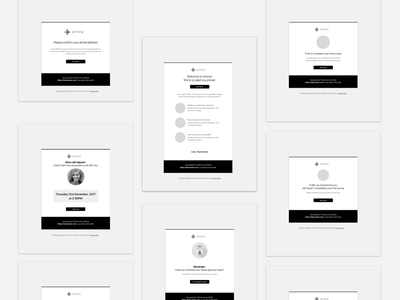 Email Redesign Wireframes wireframes redesign email