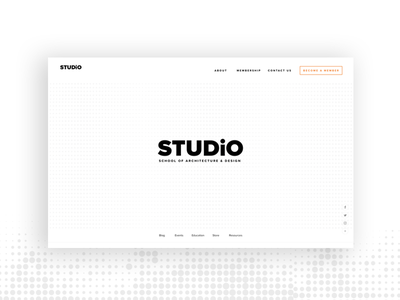 STUDiO Website concept concept school minimalistic white website