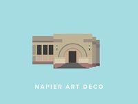 Napier Art Deco Building Icon
