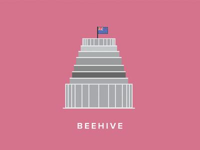 Wellington Beehive Icon wellington new zealand beehive icon flat vector illustration art