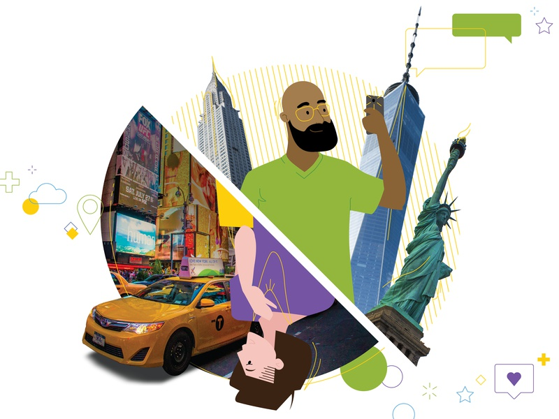 New York state of mind people illustrator art design adobe illustrator characters city urban color clean illustration new york
