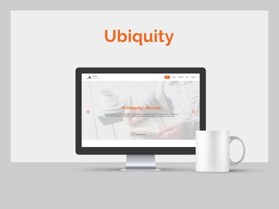 Ubiquity - Free web UI XD Template design ux india dvait studio adobe xd web flat ui