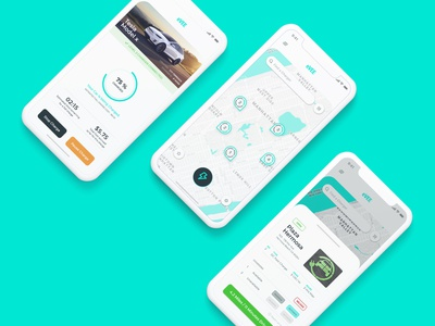 eVEE - Electric Car Charging App indian designer adobe xd app ux flat ui design india dvait studio