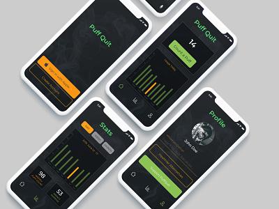 PuffQuit - UX Study designer adobe xd app ui ux design india dvait studio