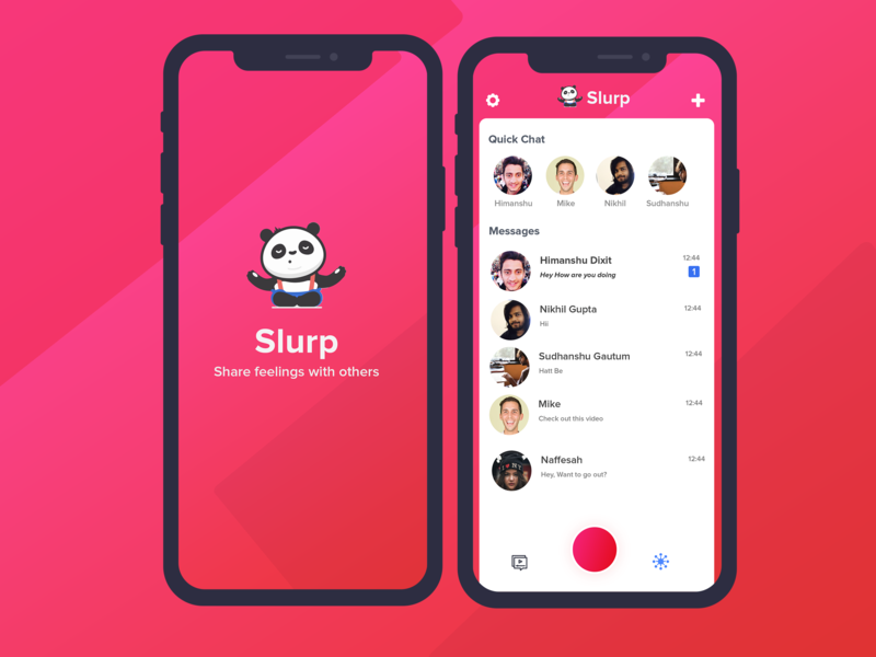 Slurp | Chat App UI by Himanshu Dixit on Dribbble