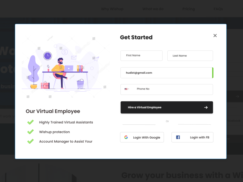 Get started screen with Signup/Login | Screen #02 by