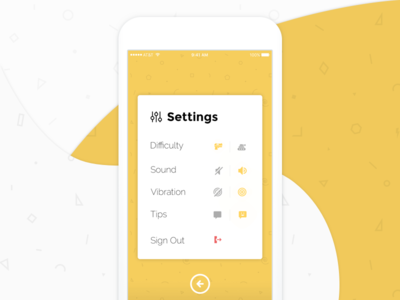 #DailyUI 6 / Settings