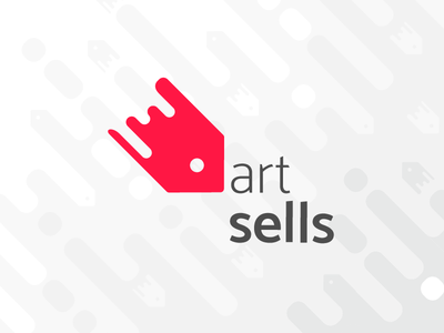 """Art sells"" logo design"