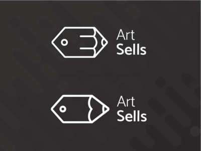 """Art Sells"" unused logo design"
