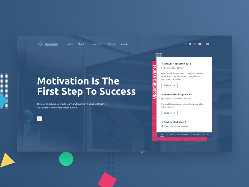 Startup Accelerator Web Design Proposal – Hero by Dulguun Enkhbat
