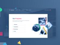 Startup Accelerator Web Design Proposal – Home/Programs