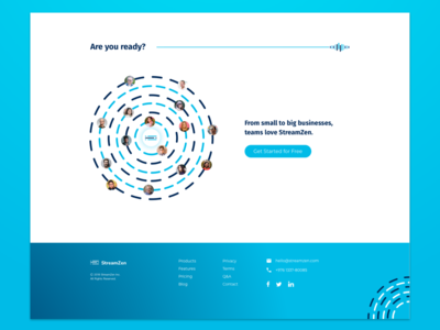 Media Outreach Landing Page – CTA & Footer