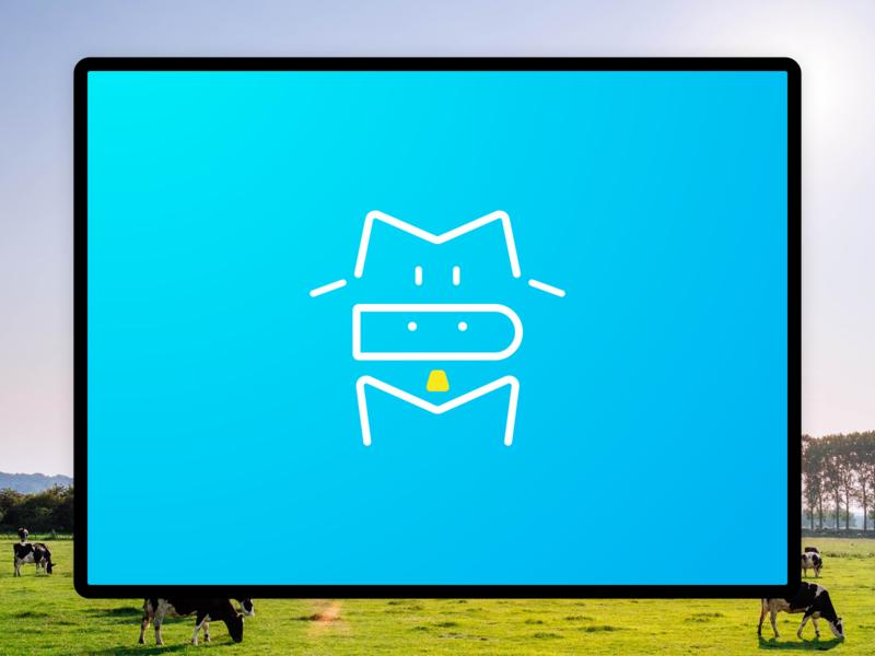 Cow – MDM sketch logo concept grass cowbell yoghurt dairy milk mdm cow