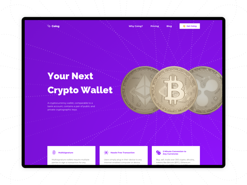 Cryptocurrency Wallet money purple landing page security digital wallet etherium bitcoin cryptocurrency crypto sketch
