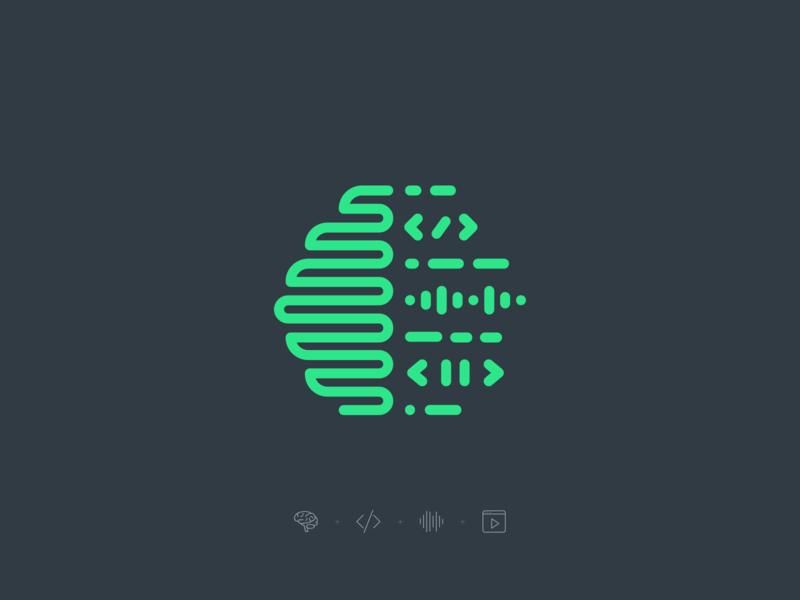 Psychology Hackathon – Logo Mark mind technology visual mark logo hackathon video audio coding code brain psychology