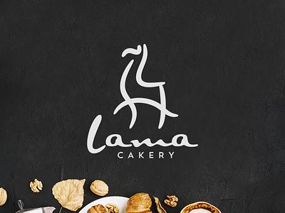 L for Llama bakery logo llama modern fun