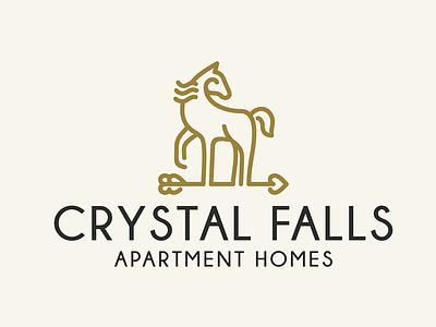 Home Sweet Home Impression elegant line logo simple horse