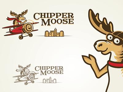 Classic & fun logo for online retailer mascot bags shopping logo classic fun moose