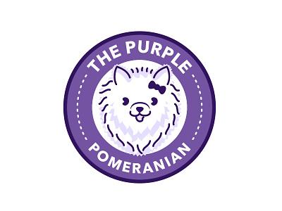 The Purple Pomeranian pet cute pomeranian dog purple
