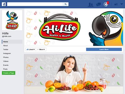 Hilife - Branding Design branding design facebook facebook cover