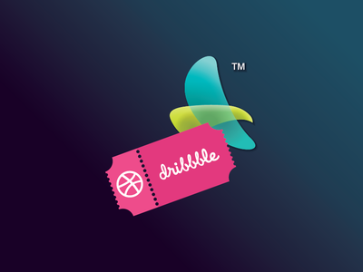 """""""Scored 1 invitation from Dribbble"""" Thank you Dribbble! thank you invitation dribbble ticket"""