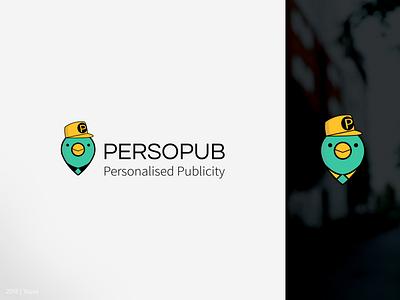 Persopub.com   Logo design photoshop illustration vector green yellow brand pigeon design creativity mascot logo mascotlogo mascot character characterdesign branding logotype logo