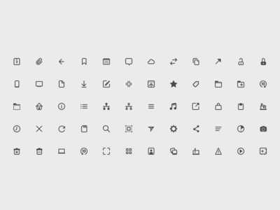 An icon set that never made it framer flat icons