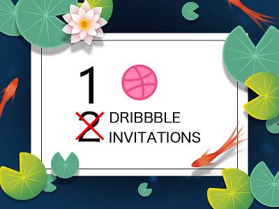 one invite invitation dribbble invited invite