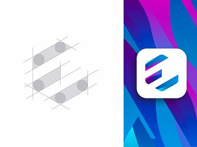 Eshraq industries - logo grid clean industrial industrie industries monogram minimal bran logo