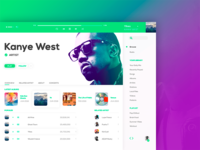 Spotify in White ( Artist Page Redesign )