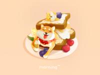 Doggie breakfast