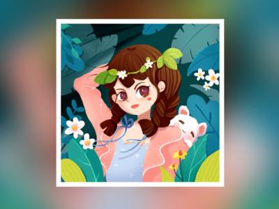 Wacom Practice - Flower Girl