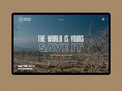 Drought Fighter web design webdesign logo typography web design ux ui minimal