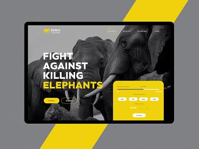 Elefort - The african animals association webdesign logo typography design web branding minimal ux ui