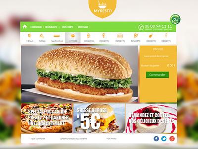 My resto web app web app ux ui
