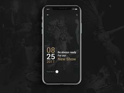 Fuego Latino mobile app minimal ux ui