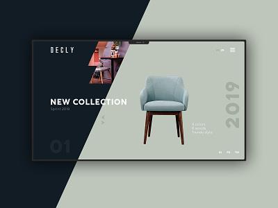 Decly by Home Design branding typography design website web minimal ux ui
