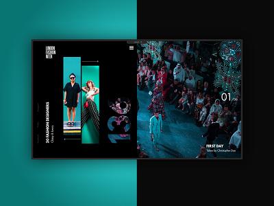 London Fashion Week website design web design webdesign design typography website branding web minimal ux ui