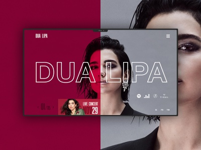 Dua Lipa design webdesign web design typography website branding web minimal ux ui