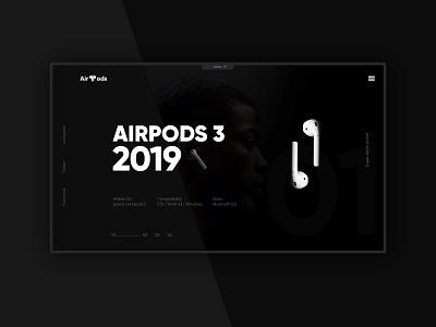 AirPods web design website design webdesign website design branding web minimal ux ui