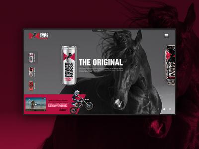 Power Horse Energy Drink typography web design webdesign website design branding web minimal ux ui
