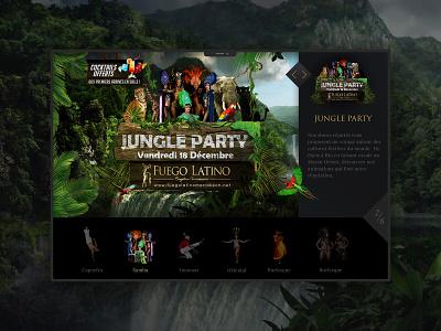 Fuego Latino - The show page animation web design webdesign website design branding web minimal ux ui