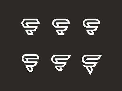 CF Monogram branding letter line geometric f c initials monoline typography monogram mark logo