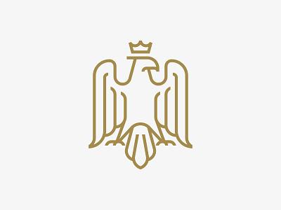Monoline Eagle geometric logos logo crest bird nature elegant masculine monoline eagle lawyer legislature financial simplistic crown outdoors adventure