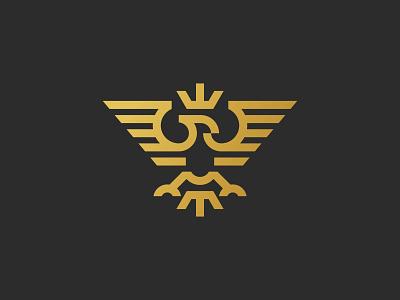 Noble Eagle Logo - For Sale robust noble logo eagle stylized minimalist triangle powerful striking monoline wings minimalistic minimal falcon hawk