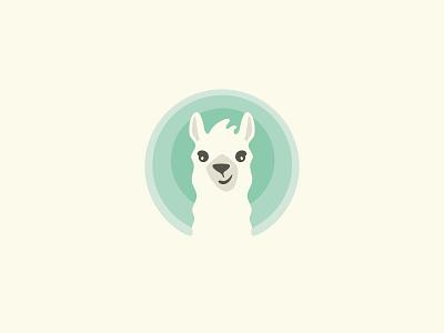 Cute Llama Logo curious logo quirky cute playful character cartoon alpaca llama mascot