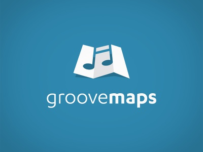Groovemaps groove logo note flat map music
