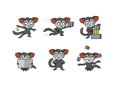 Aye Aye Mascot animal app logo aye aye mascot