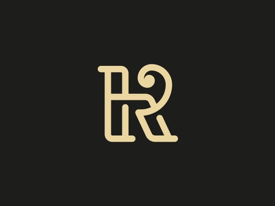 Rh monogram line monoline sophisticated elegant luxury monogram logo typography mark logo
